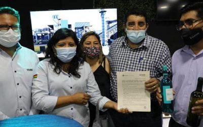 Envibol y alcaldía de Uriondo suscriben acuerdo para la provisión de envases de vidrio en apoyo a la producción agropecuaria local